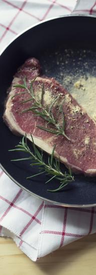 Raw Beef on Pan