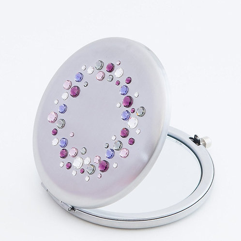 Mikaela Compact Mirror with Swarovski crystals