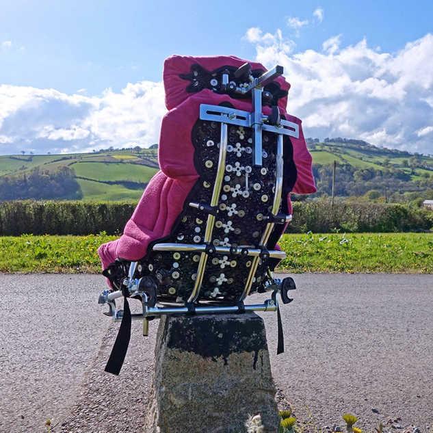 Back of Red Matrix Seat