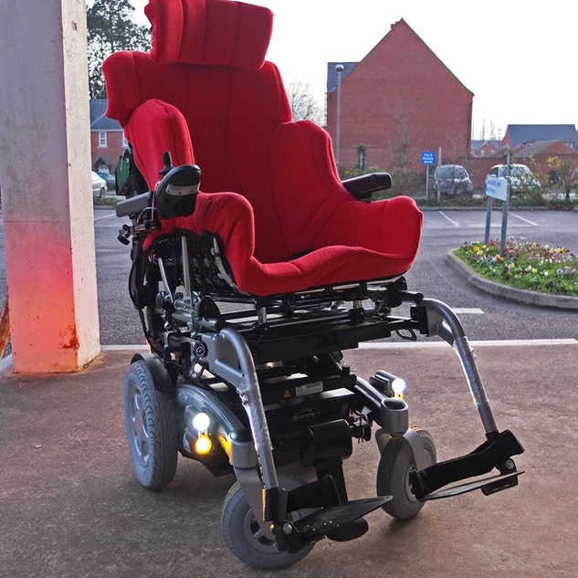 Seat interfaced with power chair