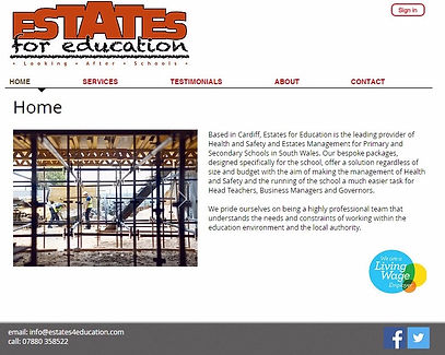 LUCY PRU Estates  Education Website Design Creation Hosting Cardiff