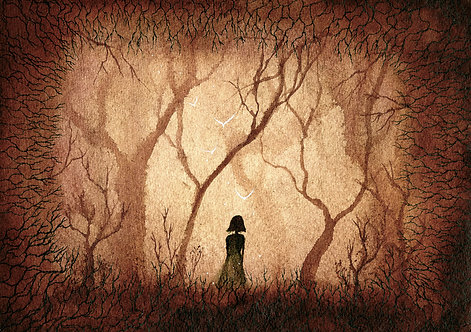 Girl in the Haunted Woods
