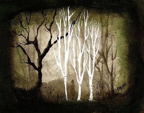 Girl in the Birch Woods