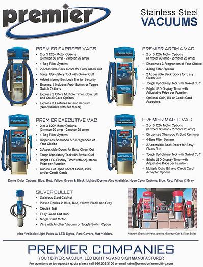 Premier carwash vaccums Westech Supply.p