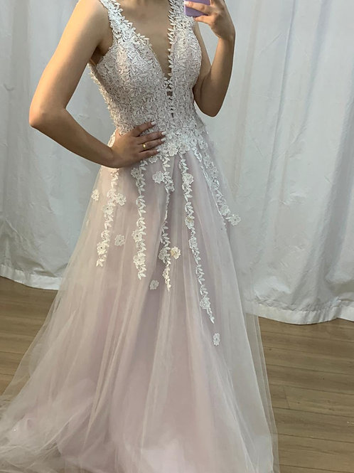 Vestido de Noiva - branco e rosê