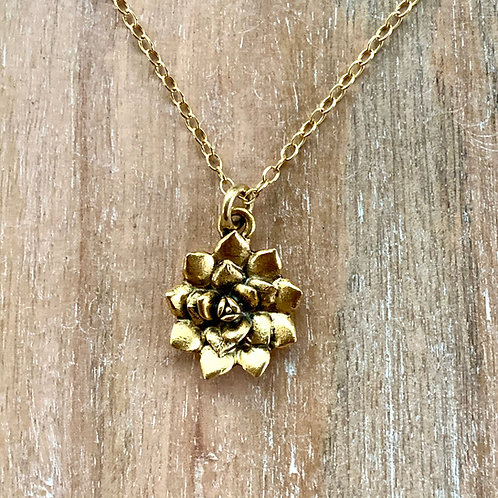Small Succulent Necklace
