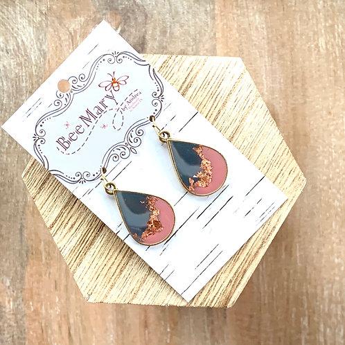 Teardrop Metal Flex Earrings