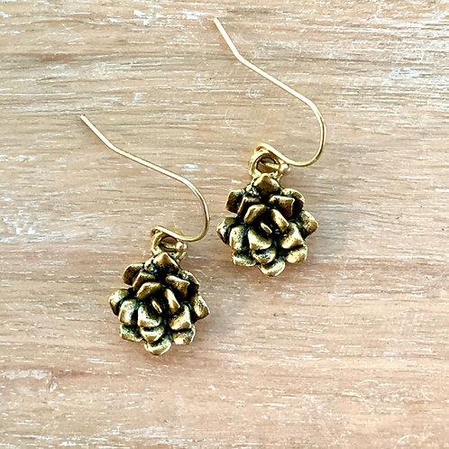 Mini Succulent Earrings