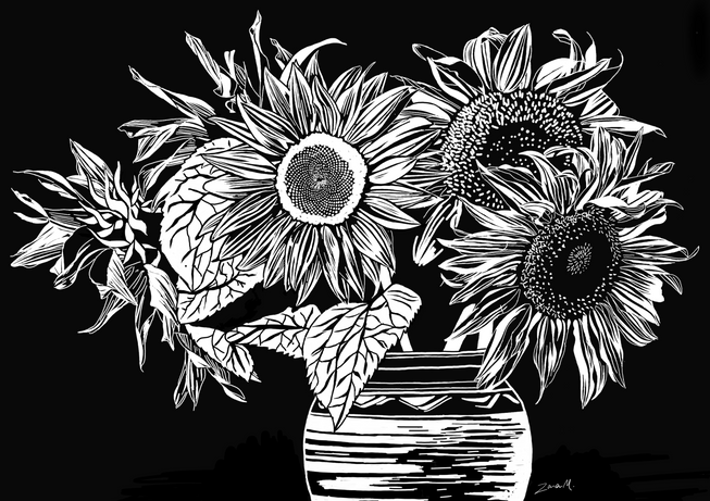 Illustrations commissioned for the client's scratch art products.