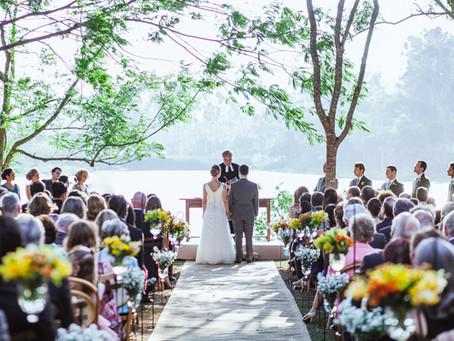 Casar no campo ou na praia? Você já pensou em se casar num lago?