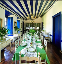 Sala de jantar da sede da Fazenda lageado.