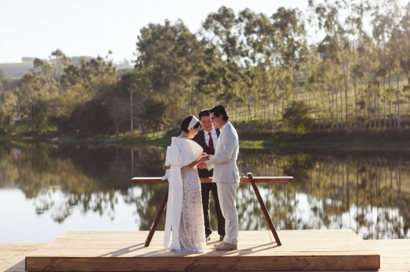 Casamento no lago Lageado.