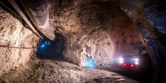 Underground tunnel in a mine