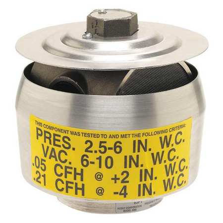 "HUSKY 2"" PRES/VAC VENT THREADED (CARB/EVR APPROVED)"