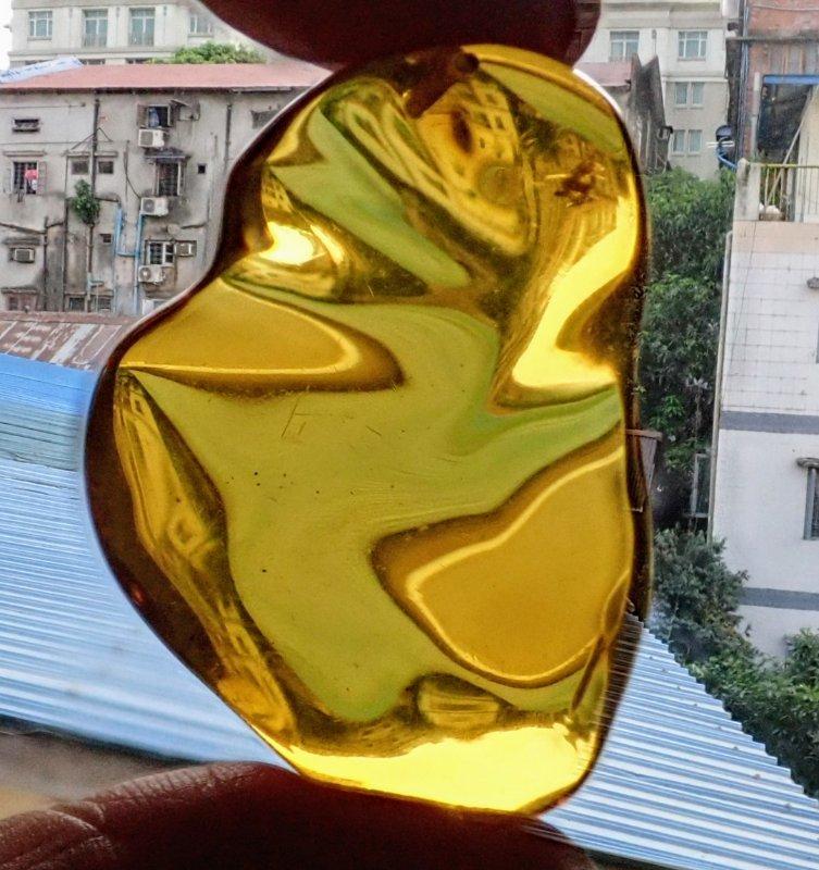 Golden Myanmar Amber