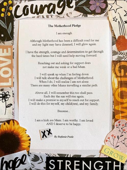 The Motherhood Pledge Custom Affirmation