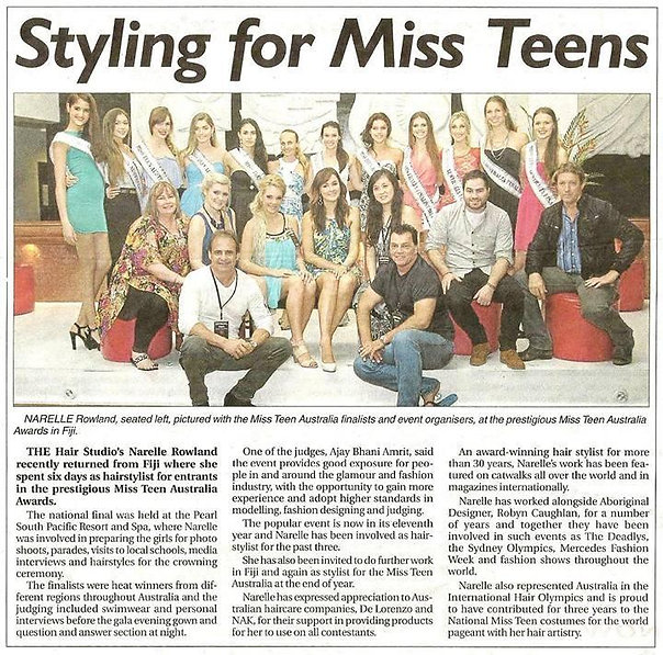 Robyn Caughlan Miss Teen Australia