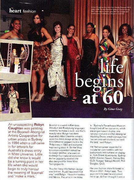 Robyn Caughlan in Heart Magazine