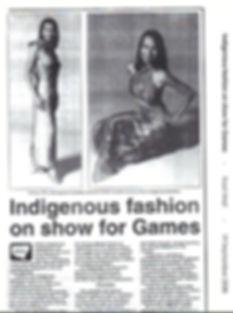 Robyn Caughlan fashion designer Ol;ympic Games  Koori Mail
