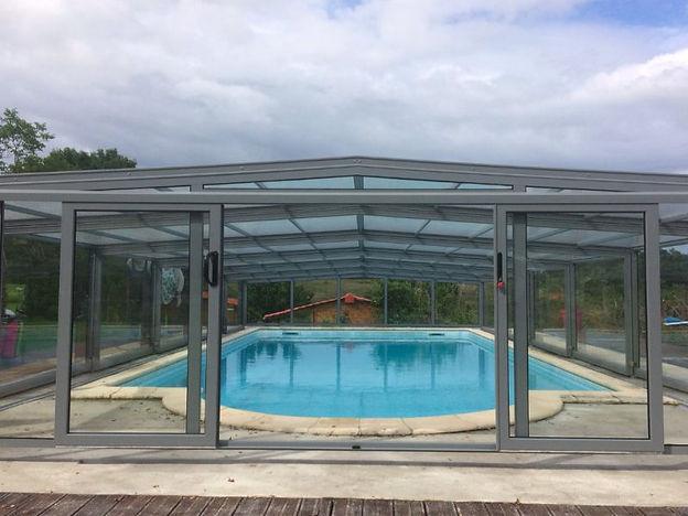 Porte en verre abri de piscine