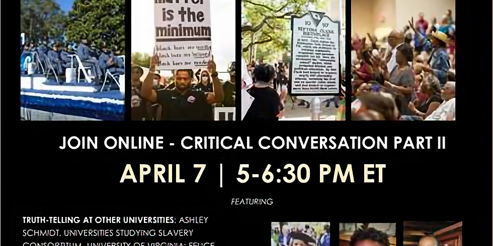 Restorative Responses Beyond CofC- By The Center for the Study of Slavery in Charleston