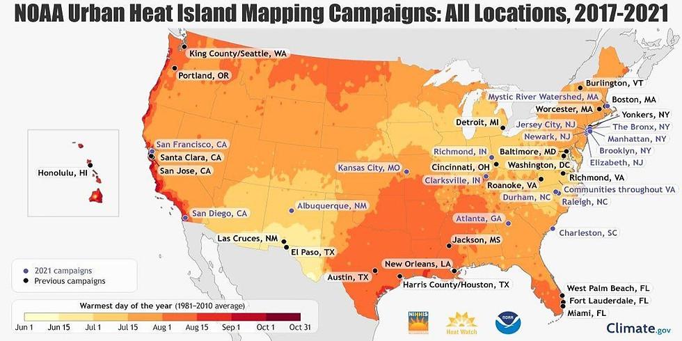 Charleston HeatWatch, a NOAA Heat Mapping Campaign July 31, 2021