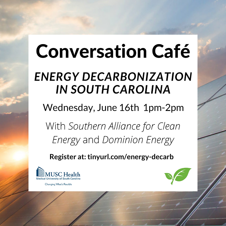 Conversation Café | Energy Decarbonization in South Carolina
