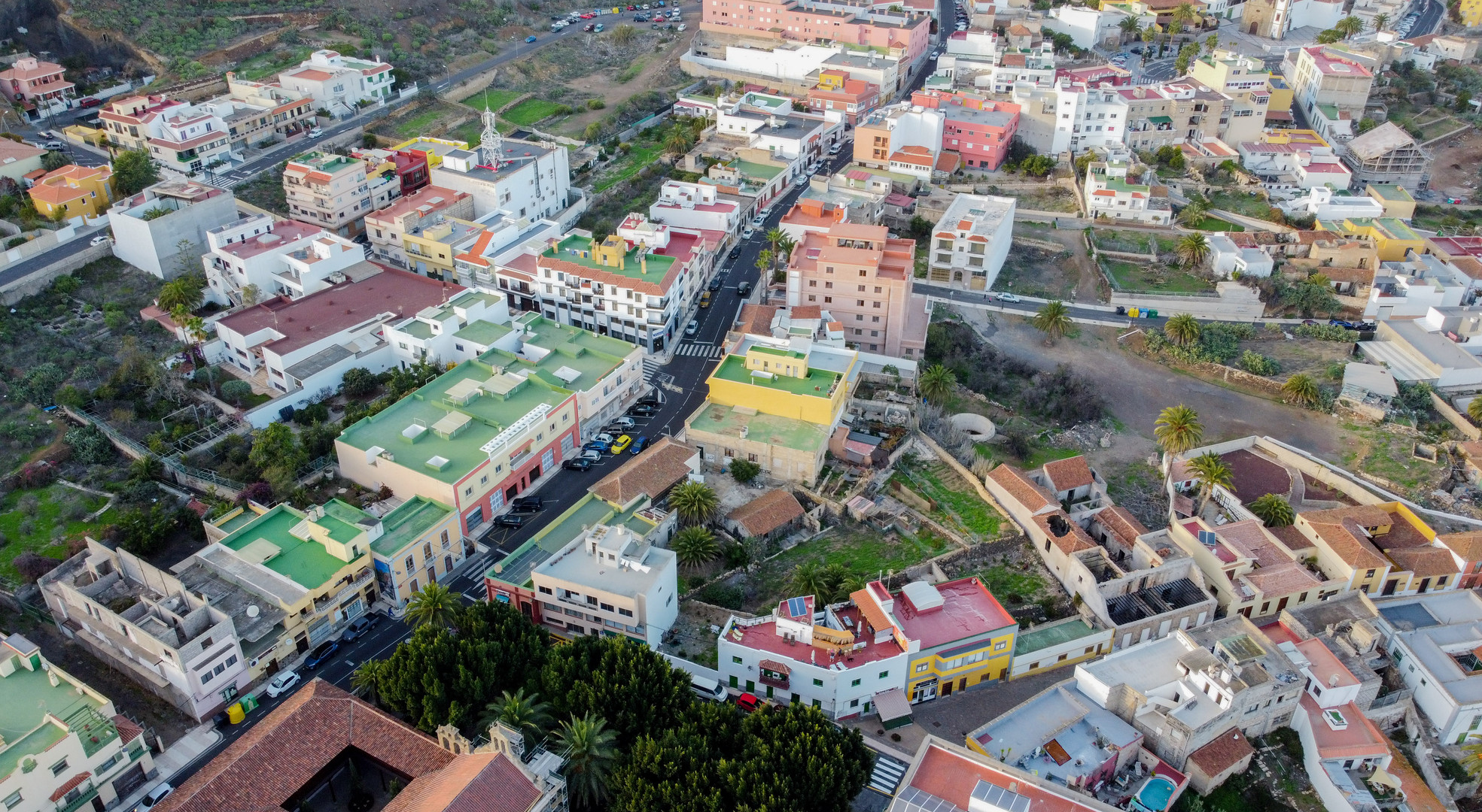 Drone shot of Granadilla de Abona Tenerife