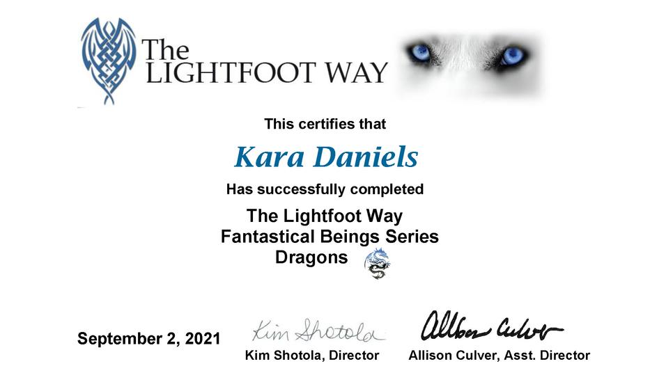 Kara Dragons Certificate.png