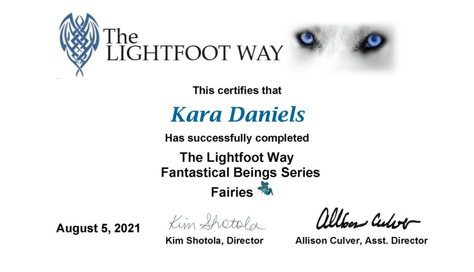 Kara Fairies Certificate.png