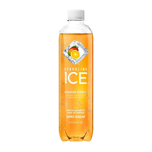 Ice sparkling soda sabor naranja y mango