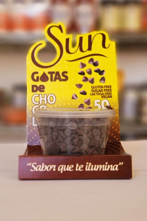Gotas de chocolate Sun sin azúcar 125 g