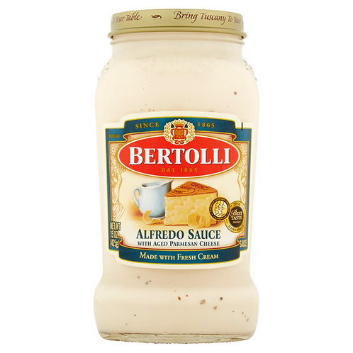Salsa para pasta alfredo BERTOLLI 425 GR