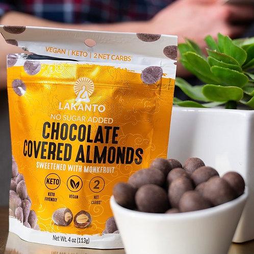 Almendras cubiertas de chocolate con Monkfruit