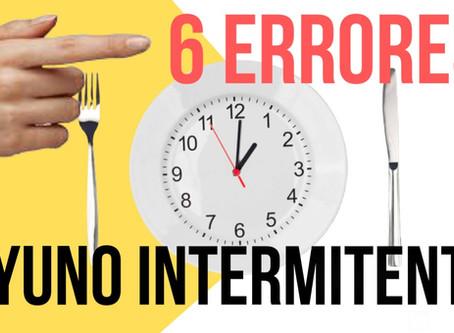 6 ERRORES al hacer AYUNO INTERMITENTE que no te dejan BAJAR DE PESO