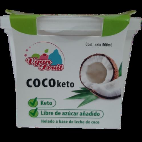 Helado keto sabor a COCO, sin azúcar