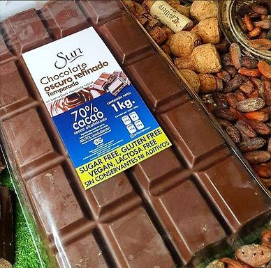 Chocolate 70% cacao con eritritol  Sun 1 kg