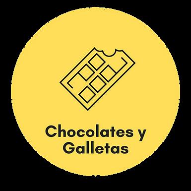 Chocolates y galletas