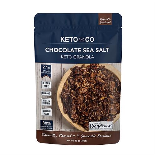 Granola sabor chocolate y sal marina 258g