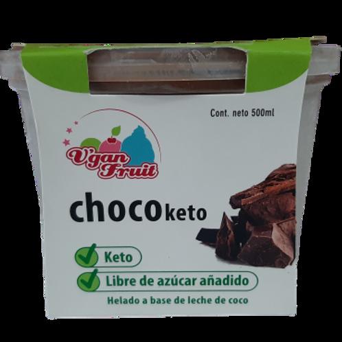 Helado keto de CHOCOLATE, sin azúcar