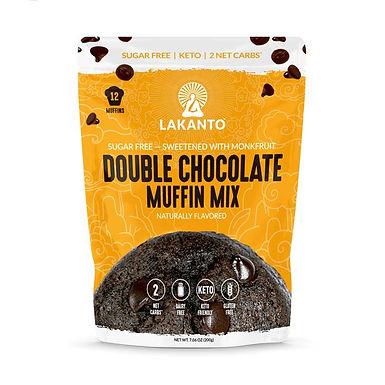 Mezcla para muffin doble chocolate lakanto 200g