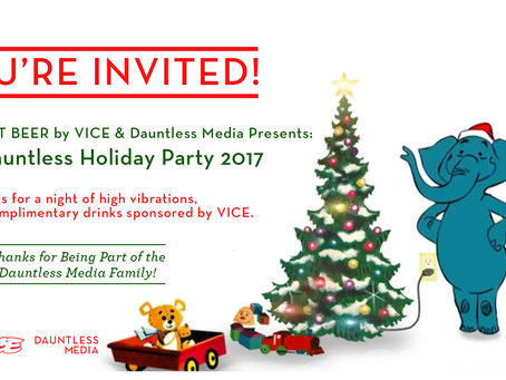 Old Blue Last Beer by VICE & Dauntless Media Presents: Be Dauntless Holiday Party 2017 | Showcas