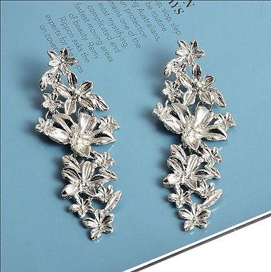 Серьги-люстры серебро
