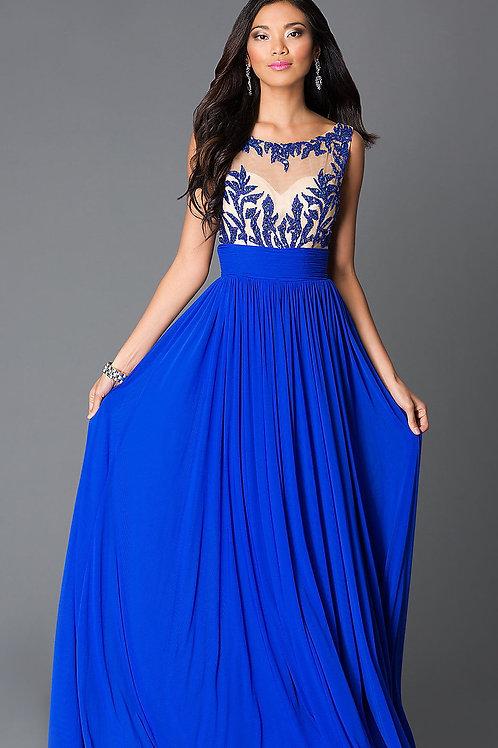 Вечернее платье с бисерной вышивкой