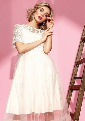 Оригинальное миди платье