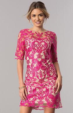 Платье-трапеция с фигурной вышивкой