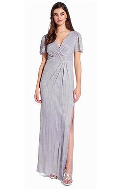 Платье с металлическим блеском