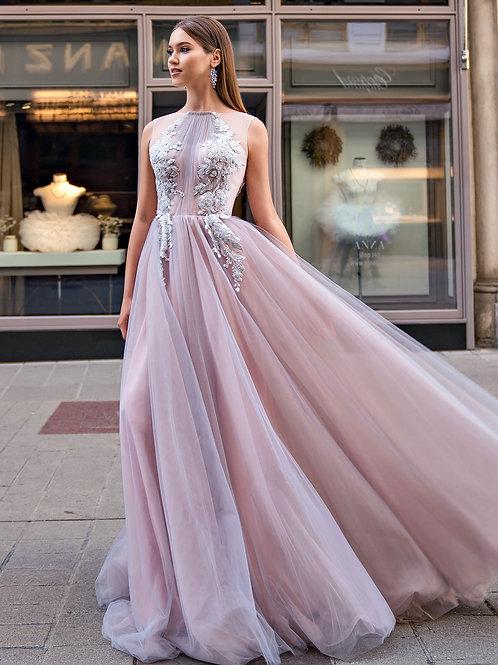 Выпускное платье с фатиновой юбкой