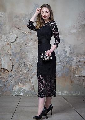 Утонченное платье миди