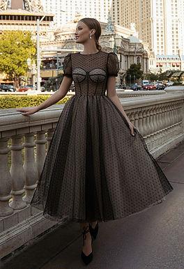 Романтичное платье в горошек Жизель